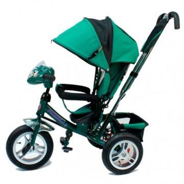 """Трехколесный велосипед Formula Trike F-7000 с надувными колесами 10"""" и 8"""" (зеленый)"""