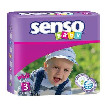 Подгузники Senso Baby Midi (4-9 кг) 22 шт