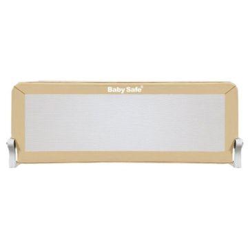 Барьер безопасности для кроватки Baby Safe Прямоугольник 120х67см (Бежевый)