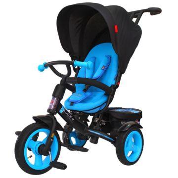 """Трехколесный велосипед RT Icon Elite New Stroller с надувными колесами 11"""" и 9"""" (blue topaz)"""