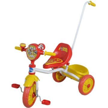 Трехколесный велосипед 1Toy с ручкой Disney