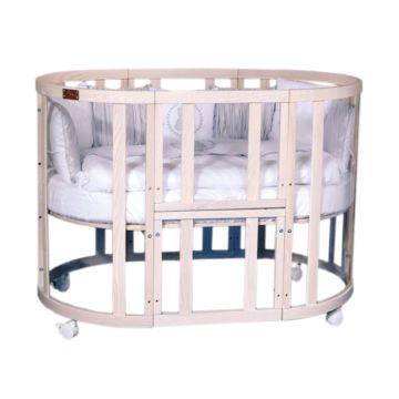 Кроватка-трансформер Incanto Estel Acqua 10 в 1 (беленый дуб)