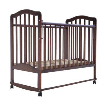 Кроватка детская Saidov Лаура 6 (качалка-колесо) (итальянский орех)