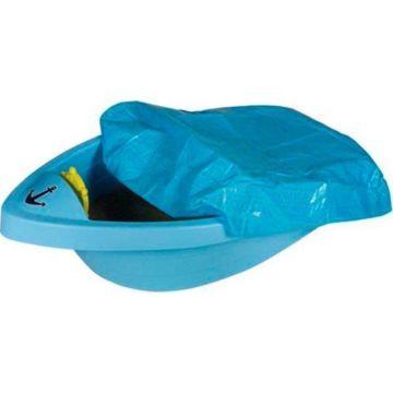 Песочница-бассейн Palplay Лодочка с покрытием (Голубой)