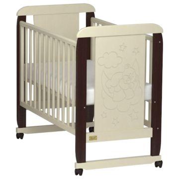 Кроватка детская Kitelli Orsetto (колеса-качалка) (Бежево-коричневый)
