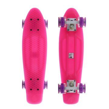 "Мини-круизер MaxCity small 22,5"" (pink) со светящимися колесами"