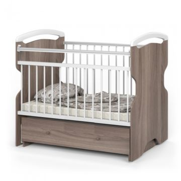 Кроватка детская Атон Elsa (поперечный маятник) (шимо темный)
