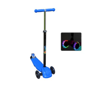 Самокат Ateox M-6 со светящимися колесами (синий)
