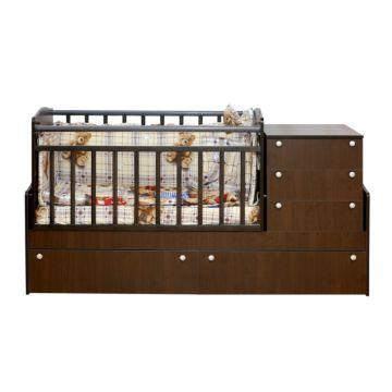 Автоматическая кровать трансформер Daka Baby Укачай-ка 05 с механизмом Bekom (Венге)