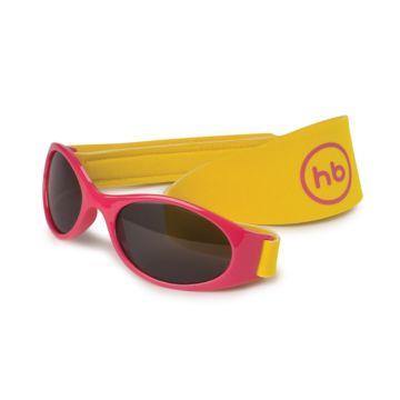 Детские солнцезащитные очки Happy Baby с ремешком (Pink)