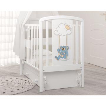 Кроватка детская Гандылян Жаклин Мишка на качелях (универсальный маятник) (белый)