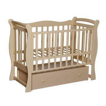 Кроватка детская Кедр Любаша 5 (поперечный маятник) (слоновая кость)