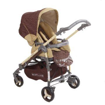 Коляска прогулочная Babylux Carita 205S (4 колеса) (moca)