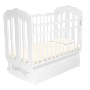 Кроватка детская Агат Папа Карло 2/2 (поперечный маятник) (Белый)