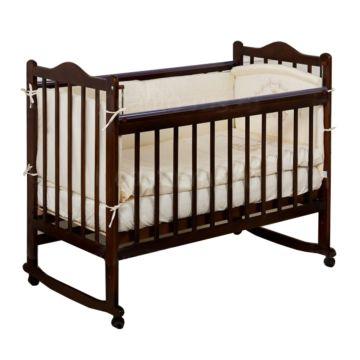 Кроватка детская Incanto Pali (Качалка-колесо) (темный)