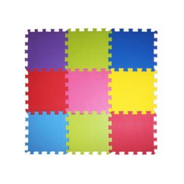 Мягкий пол Babypuzz Разноцветная полянка 50*50*2.5