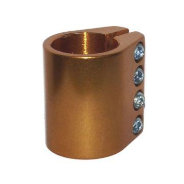 Хомут для руля Grit анодированный c 4-мя болтами 31.8 мм (золотистый)