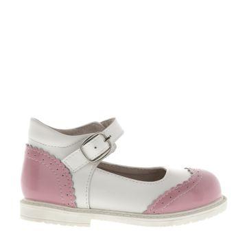 Туфли детские Kakadu 6096B для девочек (белый/розовый)