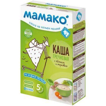 Гречневая каша Мамако на козьем молоке с яблоками и морковью (с 5 мес.)