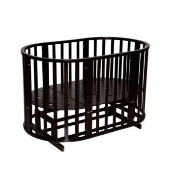 Кроватка-трансформер Кедр Любаша 4 6 в 1 (поперечный маятник) (шоколад)