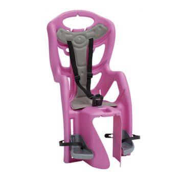 Велокресло на багажник Bellelli Pepe Clamp до 22 кг (розовое)