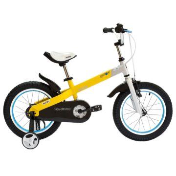 """Детский велосипед Royal Baby Buttons Alloy 18"""" (желтый/серебро)"""