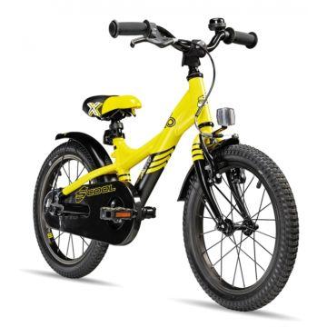 "Велосипед S'cool XXlite 16"" (2016) желтый"