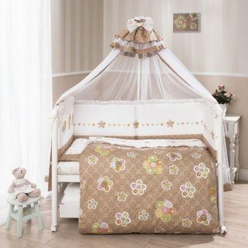 Комплект постельного белья Perina Тиффани 105х170см (7 предметов, сатин) (цветы)
