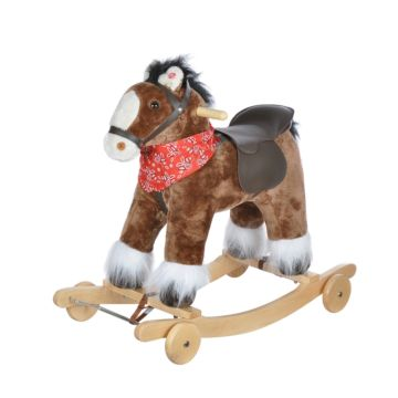 Качалка-лошадь Pituso Fandango с колесами с косынкой