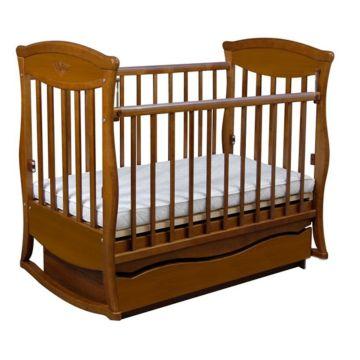 Кроватка детская Наполеон Грация с поперечным маятником (орех)