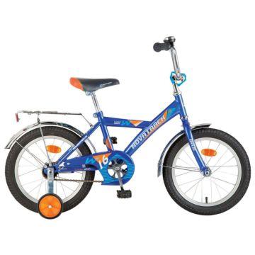 """Детский велосипед Novatrack Twist 14"""" (2016) синий"""
