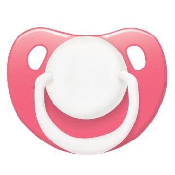 Пустышка Lubby Классика со скошенным соском (от 6 мес.) (Розовый)