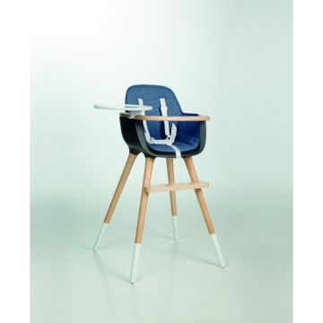 Стульчик Micuna OVO T-1533 темно-синий, текстиль синий