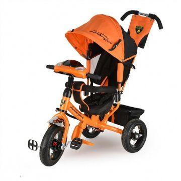 """Трехколесный велосипед Lamborghini L2 с надувными колесами 12"""" и 10"""" (оранжевый)"""