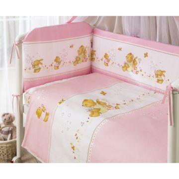Комплект постельного белья Perina Фея (4 предмета, хлопок/сатин) (Розовый)