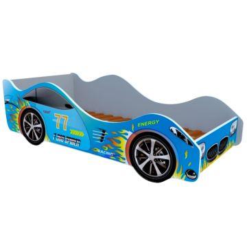 Кровать-машина Кроватка5 Машинки (Спорт голубая)