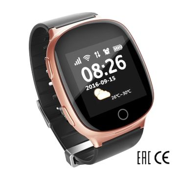 Часы с GPS-трекером SmartBabyWatch D100S (розовое золото)