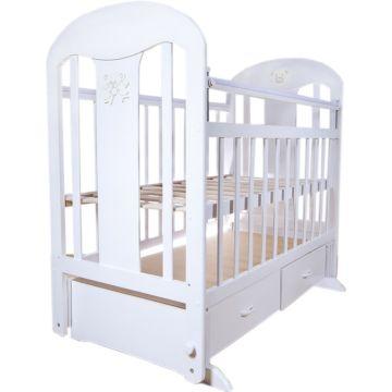 Кроватка детская Briciola 5 с поперечным маятником (белая)