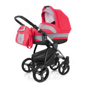 Коляска 2 в 1 Esspero Newborn Lux Chrome Red Grey