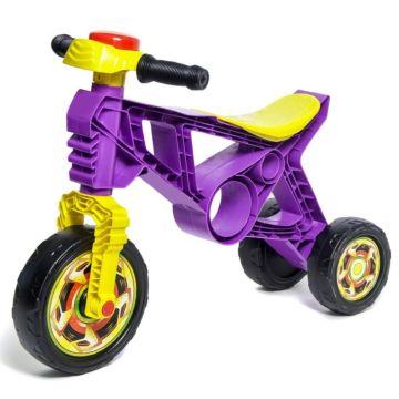 Беговел-мотоцикл RT Самоделкин ОР171 с клаксоном (фиолетовый)