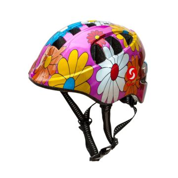Шлем SwiftBike 48-52 (Цветы)