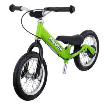 Беговел Ander с надувными колесами (зеленый)