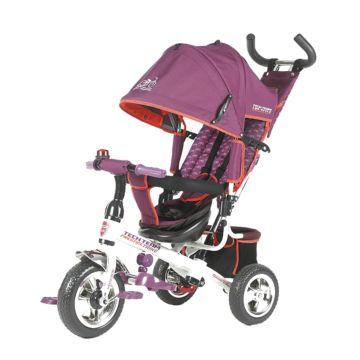 """Трехколесный велосипед TechTeam 952S с ПВХ-колесами 10"""" и 8"""" (розовый)"""