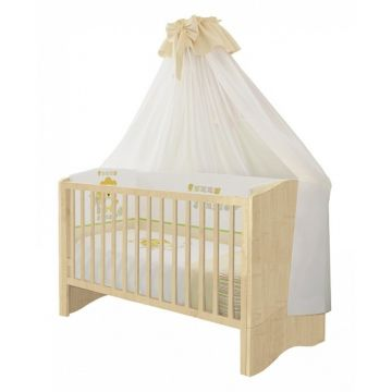 Кроватка-трансформер Polini Simple (натуральный)