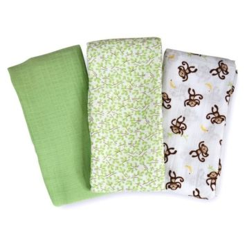 Комплект пеленок Summer Infant Muslin Swaddleme (зеленый)