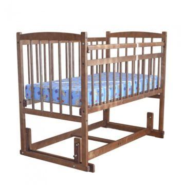 Кроватка детская Массив Беби 4 (поперечный маятник) (орех)