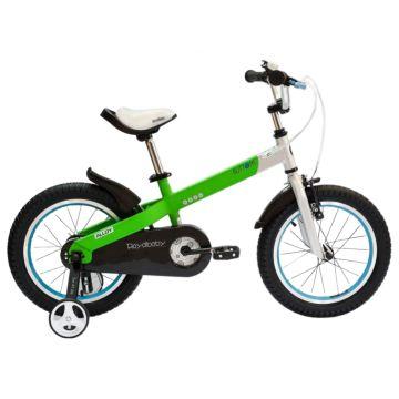 """Детский велосипед Royal Baby Buttons Alloy 12"""" (зеленый/серебро)"""