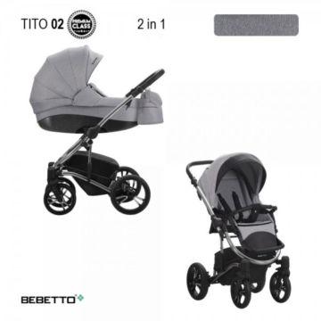 Коляска 2 в 1 Bebetto Tito Premium Class 02_CHR