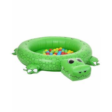 Сухой надувной бассейн Upright Крокодил + 50 шаров