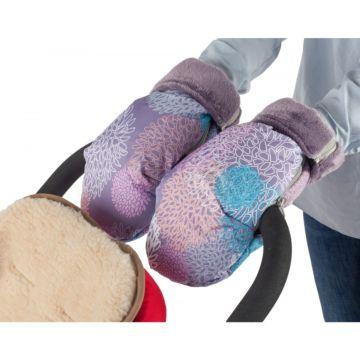 Муфта-рукавички для коляски Mammie (хризантемы)